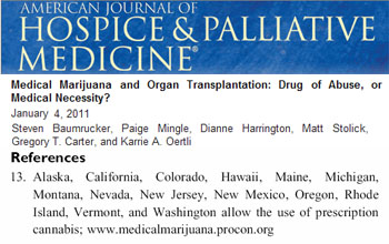 American journal of hospice and palliative medicine medical marijuana and organ transplantation