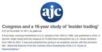 Atlanta Journal-Constitution congress and a 16 year study of insider trading