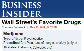 Business Insider Wall Street's favorite drugs