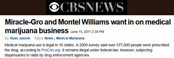 CBS News Miracle-gro and Montel Williams want in on medical marijuana business