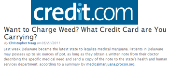 Credit Want to charge weed-what credit card are you carrying