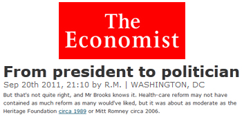 The Economist from president to politician