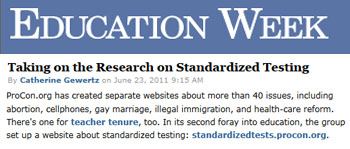 Education Week Taking on the research on standardized testing