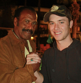 Fred Williamson and Jeremy Sumpter