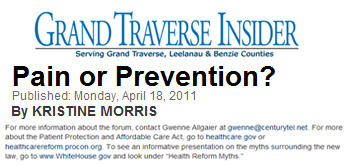 Grand Traverse Insider pain or prevention