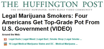 Huffington Post legal marijuana smokers four americans get top grade pot from us government