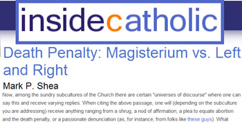 Inside Xatholic - Death penalty magisterium vs left and right