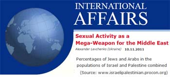 International Affairs sexual activity as a mega weapon for the Middle East