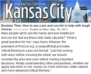 Kansas City Star decision time how to use a pro and con list to help with tough choices