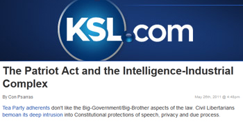 KSL The Patriot Act and the intelligence industrial complex