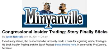 Minyanville Congressional insider trading story finally sticks