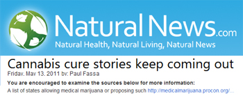 NaturalNews cannabis cure stories keep coming out