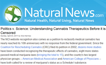 Natural News - Understanding cannabis therapeutics before it is censored