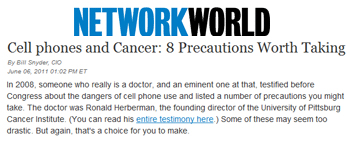 Network World Cell Phones and cancer 8 precautions worth taking