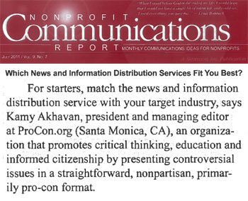 Nonprofit Communications Report which news and information distribution sevices fit you best