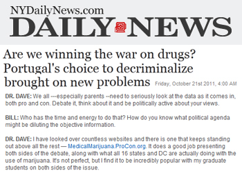 NY Daily News Are we winning the war on drugs