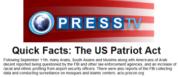 Press TV Quick facts the US Patriot Act