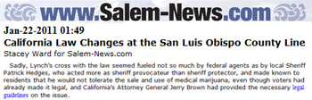 Salem News California law changes at the San Luis Obispo county line