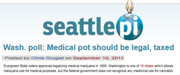 Seattle Post Intelligencer Wash. poll Medical pot should be legal taxed