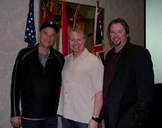 Nick Cassavettes with Marty McSorley and Lee Fraser