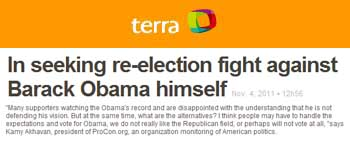 Terra In seeking re-election fight against barack obama himself