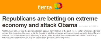 Terra Republicans are betting on extreme economy and attack Obama
