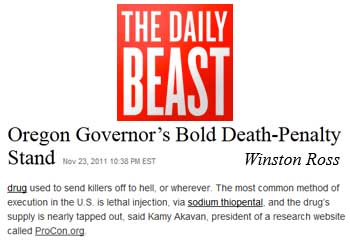 The Daily Beast Oregon governor's bald death penalty stand
