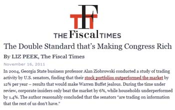The Fiscal Times the double standard thats making congress rich