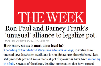 The Week Ron Paul and Barney Franks unusual alliance to legalize pot