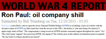world War 4 Report Ron Paul oil companies chill